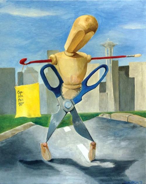 Dana Doran, La Femme Enfant, acrylic on canvas
