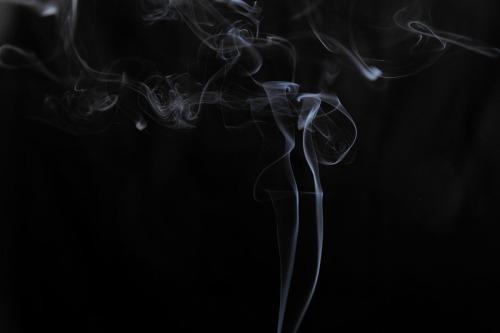 Qin Jason Jin, Smoke Statue, photography