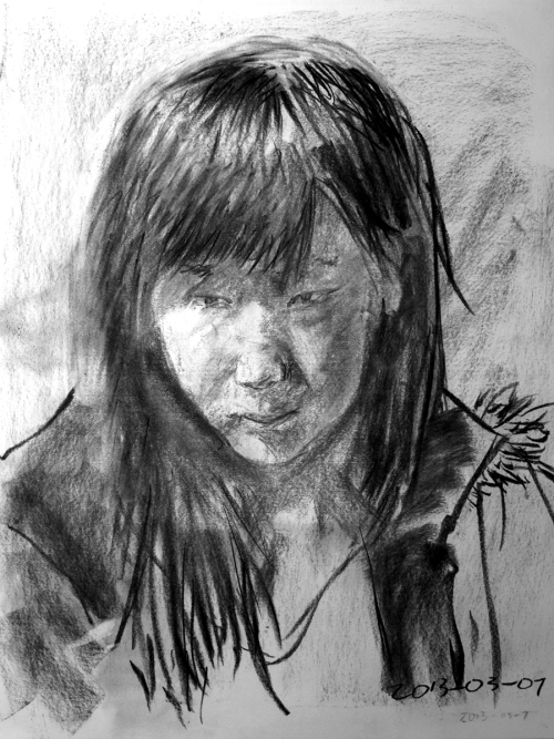 Marshall Meng, Portrait, drawing